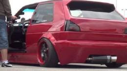 Volkswagen Golf MK2 red