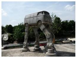 VW Bus walking transformer