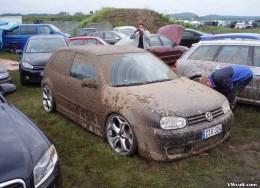 VW Golf dirty