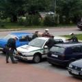 Cops washing VW Golf