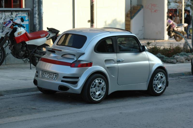 Fiat 500 as Porsche