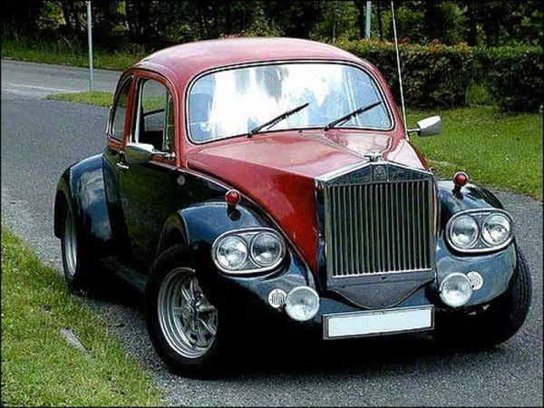 VW Beetle as Rolls Royce